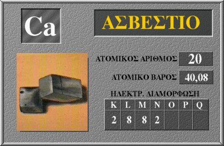 20 Ασβέστιο Ca
