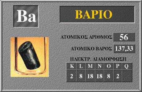 56 Βάριο Ba
