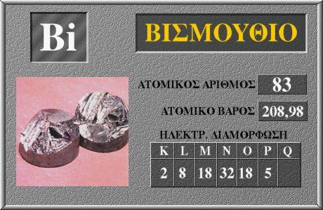 83 Βισμούθιο Bi