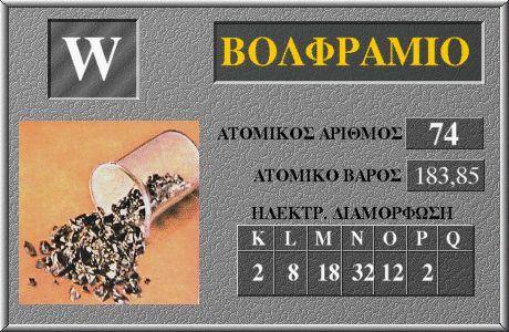 74 Βολφράμιο W