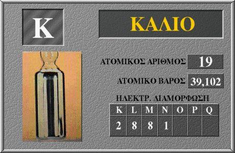 19 Κάλιο K