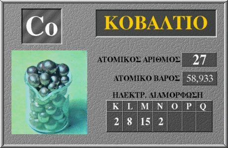 27 Κοβάλτιο Co