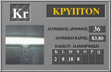 36 Κρύπτον Kr