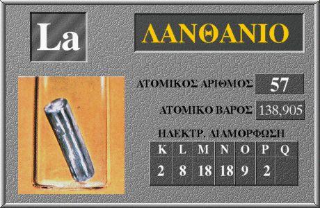 57 Λανθάνιο La