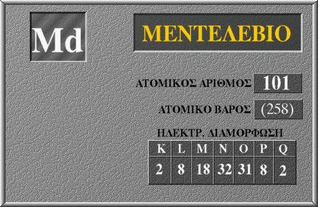 101 Μεντελέβιο Md