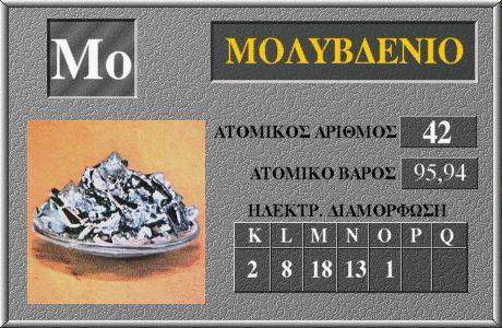 42 Μολυβδένιο Mo
