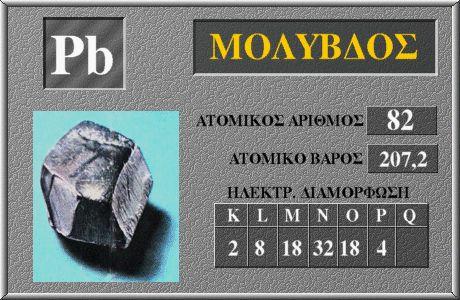 82 Μόλυβδος Pb