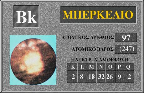 97 Μπερκέλιο Bk