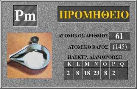 61 Προμήθειο Pm