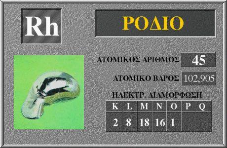 45 Ρόδιο Rh