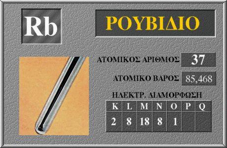 37 Ρουβίδιο Rb