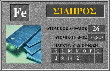 26 Σίδηρος Fe