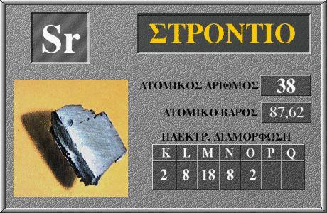 38 Στρόντιο Sr
