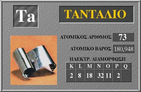 73 Ταντάλιο Ta