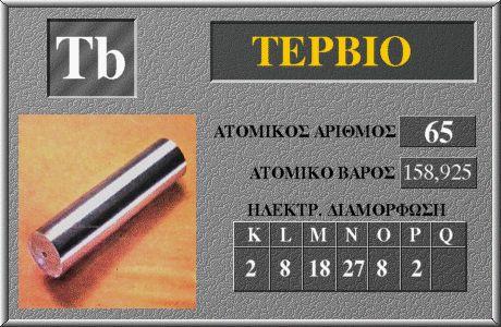 65 Τέρβιο Tb