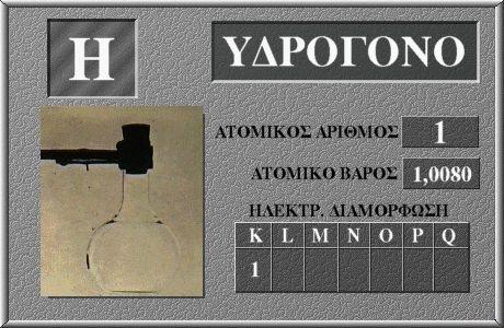 1 Υδρογόνο H