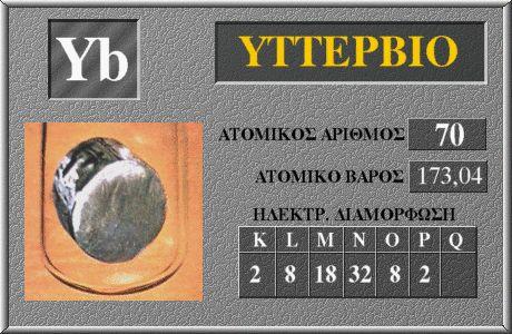 70 Υττέρβιο Yb